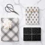 """Modern Farmhouse holiday wrapping paper<br><div class=""""desc"""">This wrapping paper collection features plaid,  snowflake and Christmas tree patterns for a minimalist holiday look.</div>"""