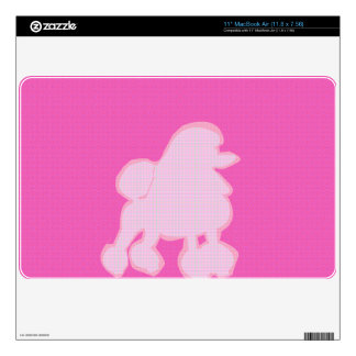 Modern Fashionable Poodle Pink and Purple MacBook Skins