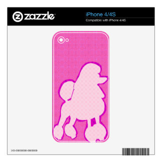 Modern Fashionable Poodle Pink and Purple Skins For iPhone 4S