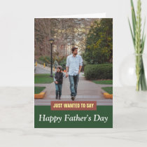 Modern Father Son Photo Happy Father's Day Card
