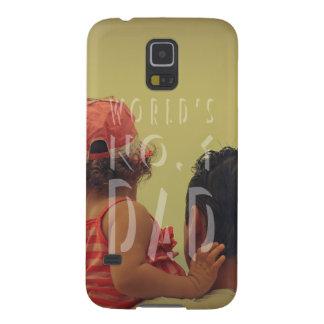 Modern Father's Day Best Dad Photo Galaxy S5 Case