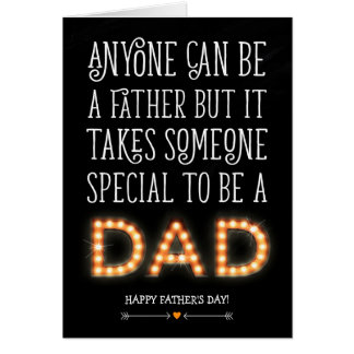 MODERN FATHERS DAY CARD | SPECIAL DAD