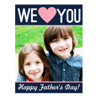 Modern Father's Day Photo Postcard
