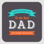 Modern Father's Day Typography Design Stickers