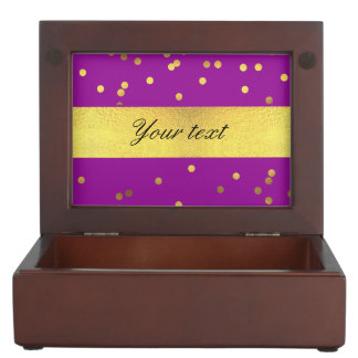 Modern Faux Gold Foil Confetti Purple Memory Box