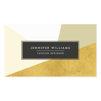 Modern Faux Gold Foil Geometric Shapes Business Card