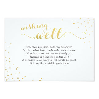 Modern Faux Gold Foil Glamour Wishing Well Card