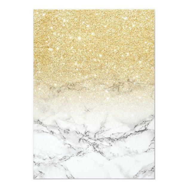 Modern faux gold glitter ombre marble Sweet 16 Card | Zazzle