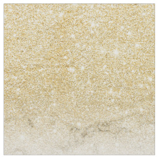 Modern faux gold glitter white marble color block fabric