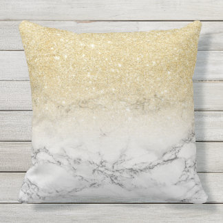 Faux Gold Glitter Pillows - Decorative & Throw Pillows Zazzle
