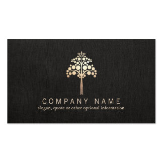 Modern Faux Gold Leaf Tree Nature Double-Sided Standard Business Cards (Pack Of 100)