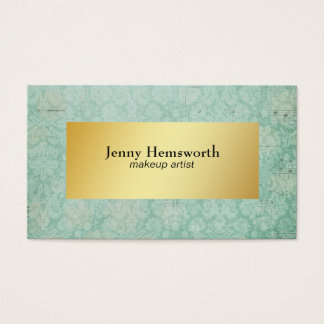 Modern Faux Gold Minimalist Watercolor with Depth Business Card