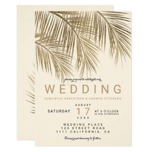 Ivory And Gold Wedding Invitations | Zazzle