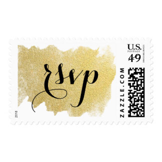 MODERN FAUX GOLD POSTAGE