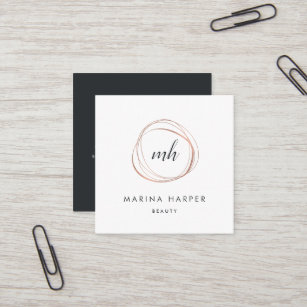 Modern business cards zazzle modern faux rose gold abstract square business card colourmoves
