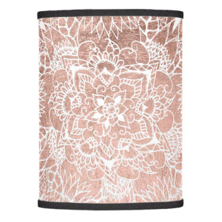 Modern faux rose gold floral mandala illustration lamp shade