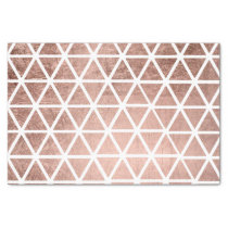 Modern faux rose gold foil triangles pattern tissue paper