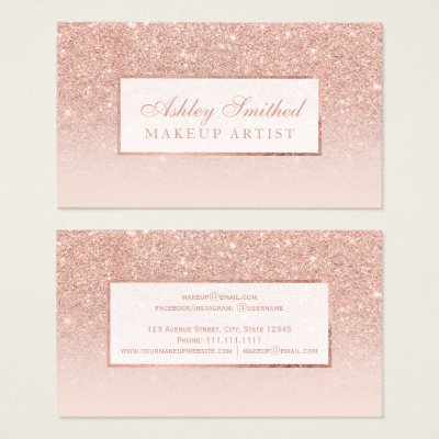 Faux Rose Gold World Map On Smoky Gray Business Card Zazzle Com