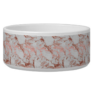 Modern faux rose gold glitter marble texture image bowl