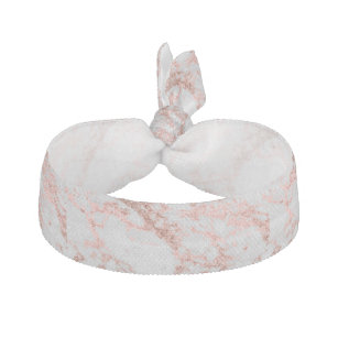 Modern faux rose gold glitter marble texture image elastic hair tie 241dcb272d7