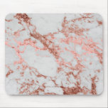 """Modern faux rose gold glitter marble texture image mouse pad<br><div class=""""desc"""">Modern faux rose gold glitter marble texture image,  shining glow pink,  rose gold glitter abstract strokes,  white grey faux marble stone,  special occasions,  texture,  Shapes,  design,  messy,  craft,  artwork,  illustration,  custom,  young,  decorative,  creative,  fashion,  unique,  fresh,  luxury,  chic,  beautiful,  pretty,  cute,  art,  popular,  awesome,  stylish,  image.</div>"""