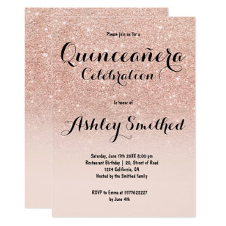 Glitter Quinceañera Invitations & Announcements | Zazzle