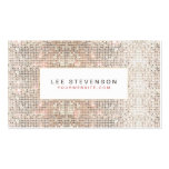 Modern Faux Sequins Beauty and Fashion Retro Double-Sided Standard Business Cards (Pack Of 100)