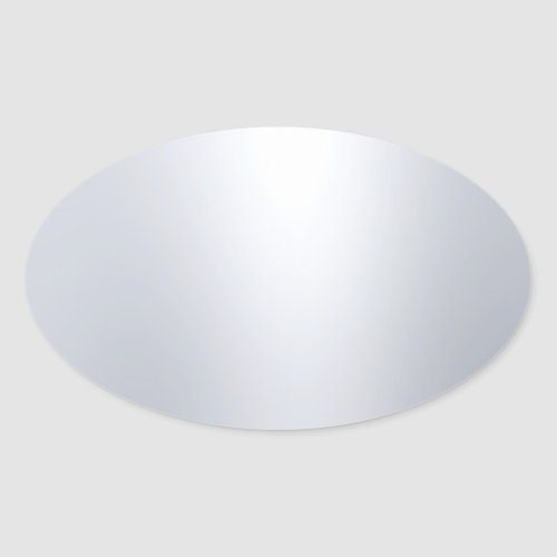 Modern Faux Silver Blank Template Glamorous Oval Sticker