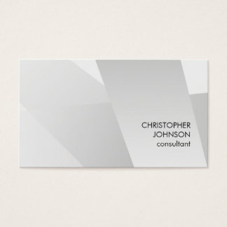 Modern Faux Silver Geometric Pattern Consultant Business Card