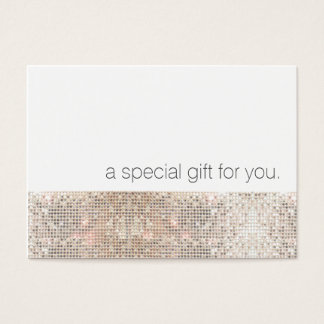 Modern Faux Silver Sequins Beauty Gift Certificate