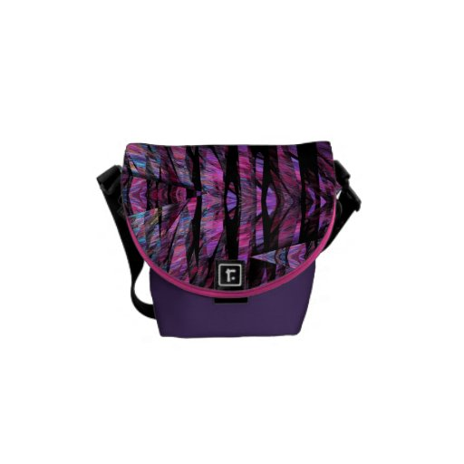 Modern faux stained glass Mini Zero Messenger bag