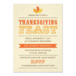 Modern Feast Thanksgiving Dinner Invitation