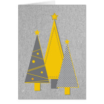 Modern Felt Look Christmas Tree Card