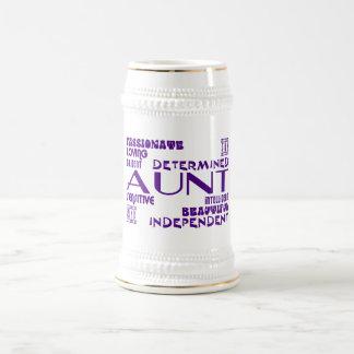 Modern Feminine Chic & Stylish Aunties & Aunts Beer Stein
