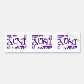 Modern Feminine Chic & Stylish Aunties & Aunts Bumper Sticker