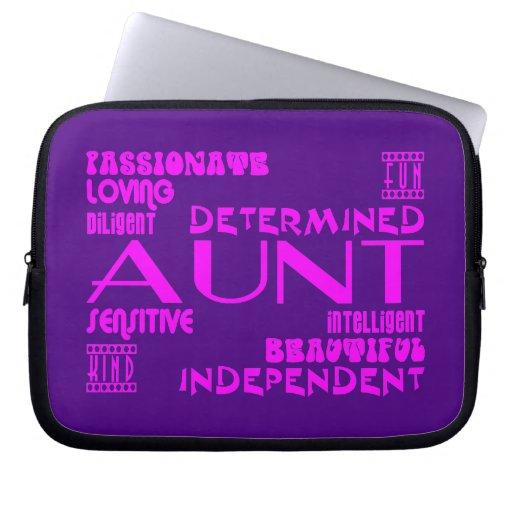 Modern Feminine Chic & Stylish Aunties & Aunts Laptop Computer Sleeves