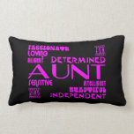 Modern Feminine Chic & Stylish Aunties & Aunts Throw Pillow