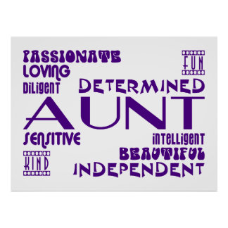 Modern Feminine Chic & Stylish Aunties & Aunts Poster