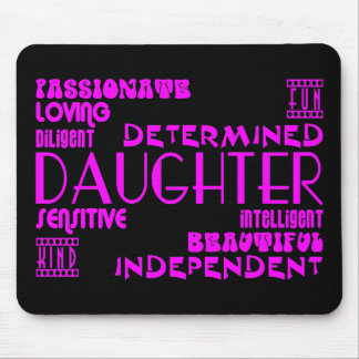Modern Feminine Chic & Stylish Daughters Mouse Pad