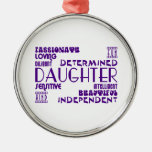 Modern Feminine Chic & Stylish Daughters Christmas Ornaments