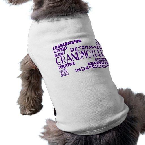Modern Feminine Chic Stylish Grandmas Grandmothers Pet Tee Shirt