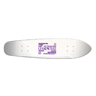 Modern Feminine Chic Stylish Grandmas Grandmothers Skate Board Decks