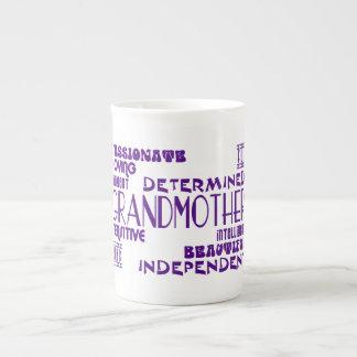 Modern Feminine Chic Stylish Grandmas Grandmothers Porcelain Mugs