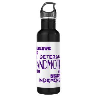 Modern Feminine Chic Stylish Grandmas Grandmothers Stainless Steel Water Bottle