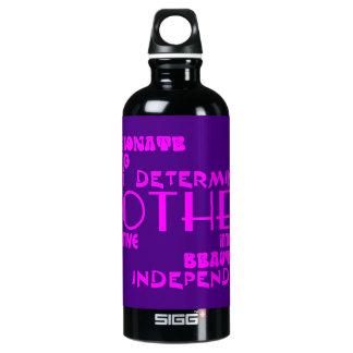 Modern Feminine Chic & Stylish Moms & Mothers Aluminum Water Bottle