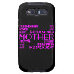 Modern Feminine Chic & Stylish Moms & Mothers Galaxy S3 Case