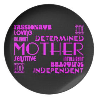 Modern Feminine Chic & Stylish Moms & Mothers Dinner Plate