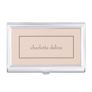 Feminine business card holders cases zazzle modern feminine chic texture pale pink beauty business card holder colourmoves Image collections
