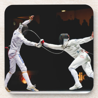 Modern Fencing Sword Fighting Dual Coaster