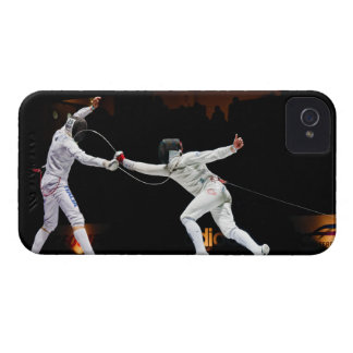 Modern Fencing Sword Fighting Dual iPhone 4 Cover